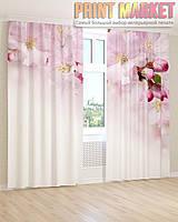 Фото шторы розовые бутоны и цветы