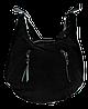 Превосходная женская сумочка из натуральной замши черного цвета ААА-077544