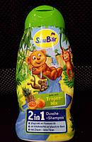 Детский гель для душа + шампунь SauBar Tropen-Mix 2in1 250ml