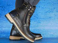 Ботинки мужские в стиле Timberland с натуральной кожи на меху
