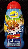 Детский гель для душа + шампунь SauBar Erdbeere 2in1 250ml