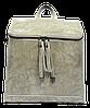 Женская сумка рюкзак серого цвета из натуральной кожи NNА-059373