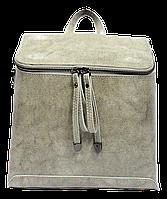 Женская сумка рюкзак серого цвета из натуральной кожи NNА-059373, фото 1