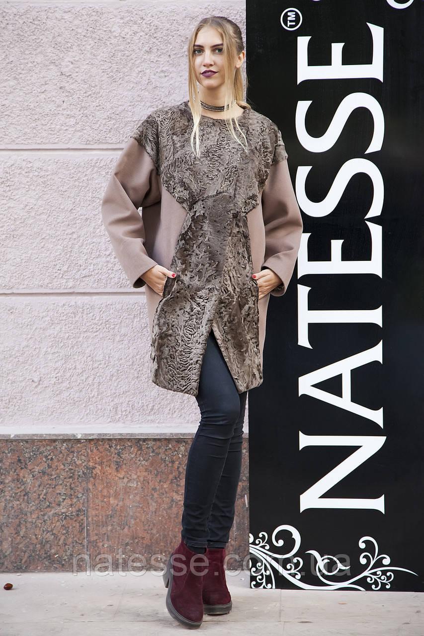 Пальто из кашемира и каракульчи swakara jacket