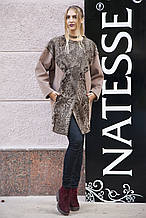 Пальто з каракульчі з обробкою з кашеміру swakara broadtail jacket coat