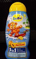 Детский гель для душа + шампунь SauBar Aprikose 3in1 250ml