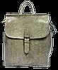 Женская сумка рюкзак с пряжкой серого цвета из натуральной кожи NОА-059079