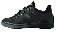 Зимние мужские кроссовки Adidas Stan Smith Black, на меху