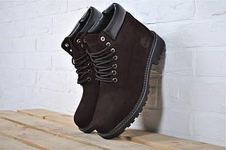 Размер 44 (29см) Ботинки мужские зимние В стиле Timberland / ботинки Тимберленд / Brown, фото 2