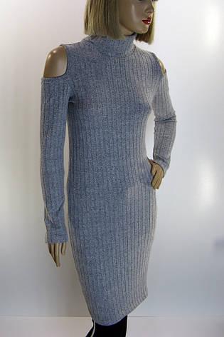Трикотажна сукня з відкритими плечами TATU, фото 2