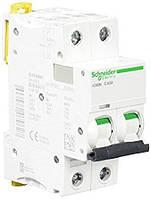 Автоматический выключатель Schneider Electric iK60 2P 10A хар-ка C 6кА  A9K24210
