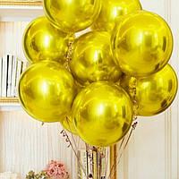 Шар Сфера 3d фольгированный / золото