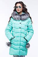 Ультрамодная стеганая куртка полуприталенного фасона 42-56