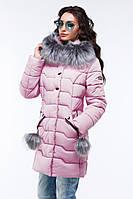 Модная молодёжная стеганая куртка полуприталенного фасона 42-56
