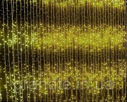 Гирлянда Водопад 3х2 м 480 LED на белом проводе, цвет -тепло-белый