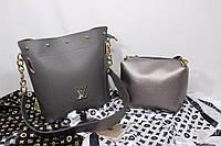 Женский  модный набор - сумка и клатч, в расцветках