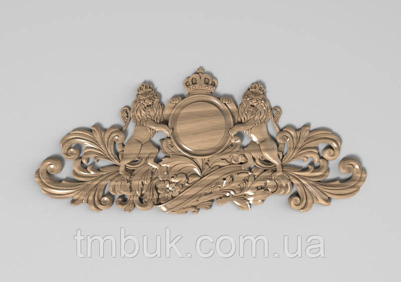 Горизонтальный декор 23 деревянная накладка - 450х200 мм