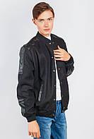 Куртка американка с кожаными вставками AG-0004463 Черный