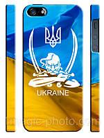 Украина чехол Український стяг та козаче для айфон 5