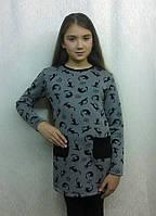 Платье туника для девочки Кошки