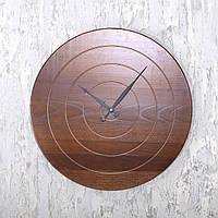 """Деревянные настенные часы """"Wooden Wall Clock Ø60"""" из высокогорного ясеня"""