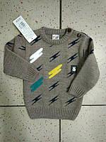 Детский теплый серый свитер для мальчика