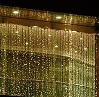 Светодиодная гирлянда Водопад 3х1м Световой дождь 300LED цвет: желтый