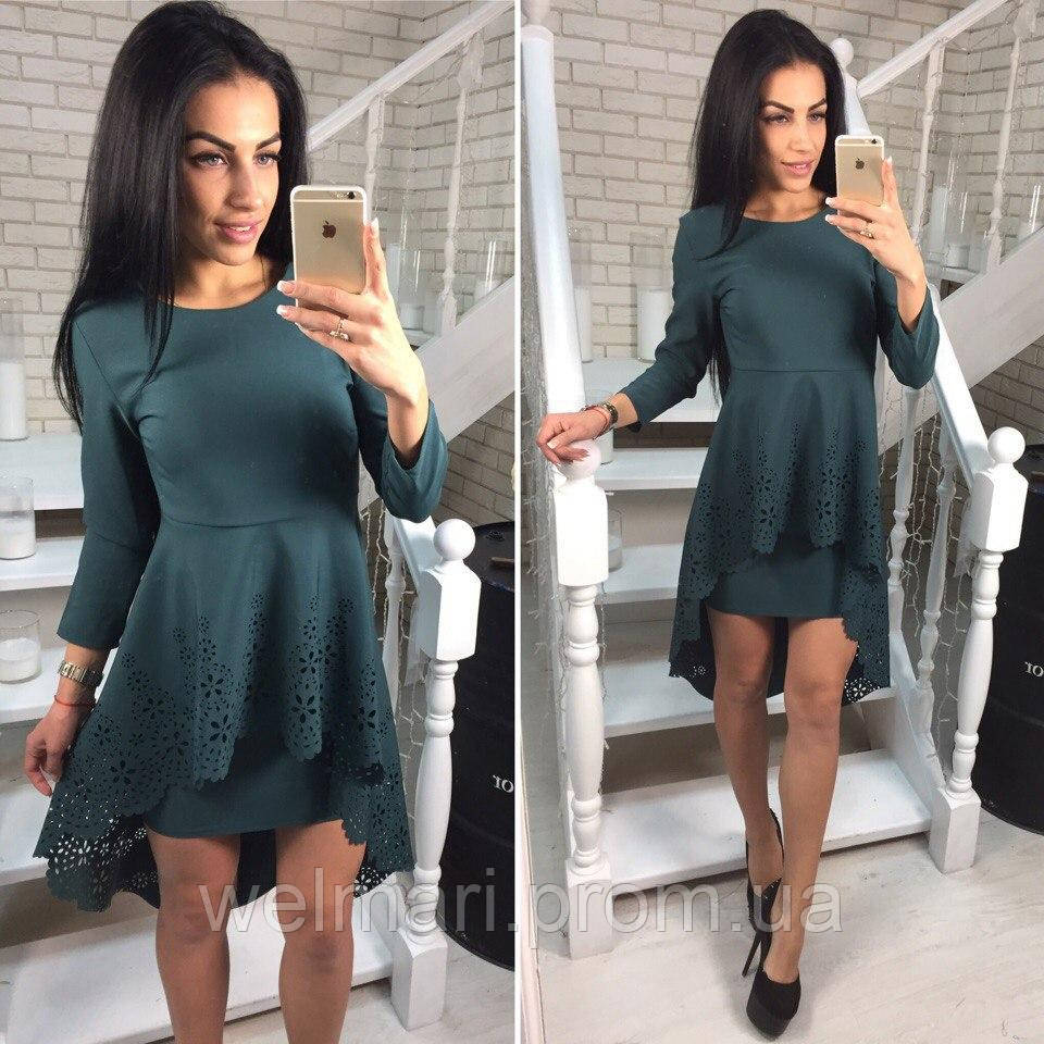Платье два разных цвета