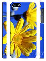 Украина чехол Квіти у патріотичних кольорах на айфон 5