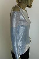 Жіноча трикотажна кофта із срібним напиленням