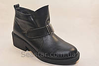 Женские  ботинки на удобном каблуке, фото 1