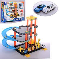 Детский гараж паркинг M 3495, 37-25-30см, заправка, машинки 2шт, 7см, в кор-ке,37,5-30-7,5см