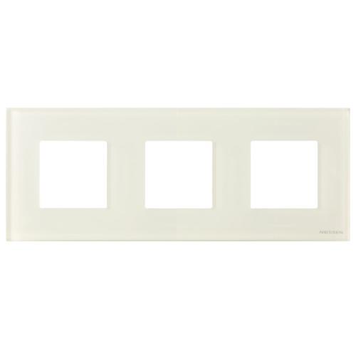 Рамка 3 пост. ABB Zenit Стекло белое N2273 CB