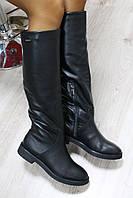 Зимние натуральные кожаные сапоги цвет: черныйматериал: натуральная кожа внутри утеплитель: набивная овчина