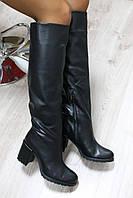 Зимние натуральные кожаные сапоги на каблукематериал: натуральная кожа, каблук обтянут кожей внутри утеплител