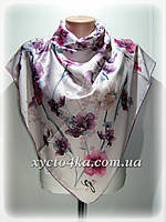 Шёлковый платок Сакура, розовый
