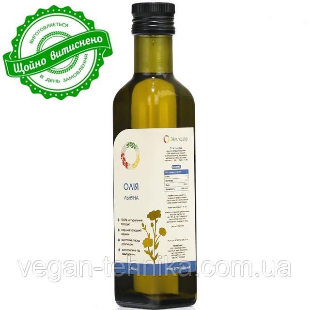 Льняное масло холодного отжима (сыродавленное)