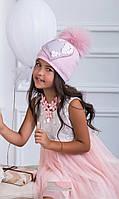 Красивая шерстяная шапочка для девочки Нели