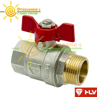 HLV Optima кран шаровый PN 40 3/4 ГШ бабочка