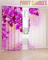 Фото шторы цветок орхидея