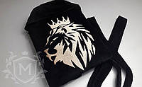 Махровый халат с именной вышивкой черный
