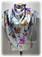 Шёлковый платок Сакура, мятный