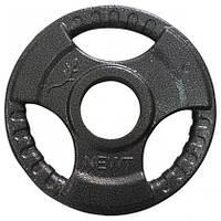 Диск важкоатлетичний з хватами Newt 1,25 кг (52 мм)