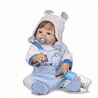 Кукла реборн мальчик Полностью силиконовый