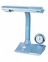 Светильник настольный WATC WT027-11W G23 серебро + годинник