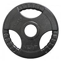 Диск важкоатлетичний з хватами Newt 2,5 кг (52 мм)