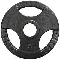 Диск важкоатлетичний з хватами Newt 5 кг (52 мм)