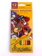 Цветные карандаши Пегашка 12 цветов