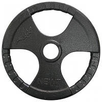 Диск важкоатлетичний з хватами Newt 20 кг (52 мм)