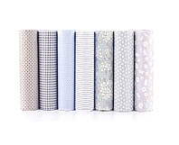 Набор тканей (Ткань) серых оттенков для Пэчворка 50x40 см 7 шт